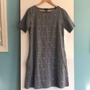 Eileen Fisher Dresses - Eileen Fisher Aztec Print Cotton Midi Dress